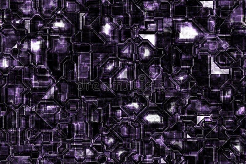 De blauwachtige Donkerblauwe Techno-Achtergrond van Kringsgrunge royalty-vrije illustratie