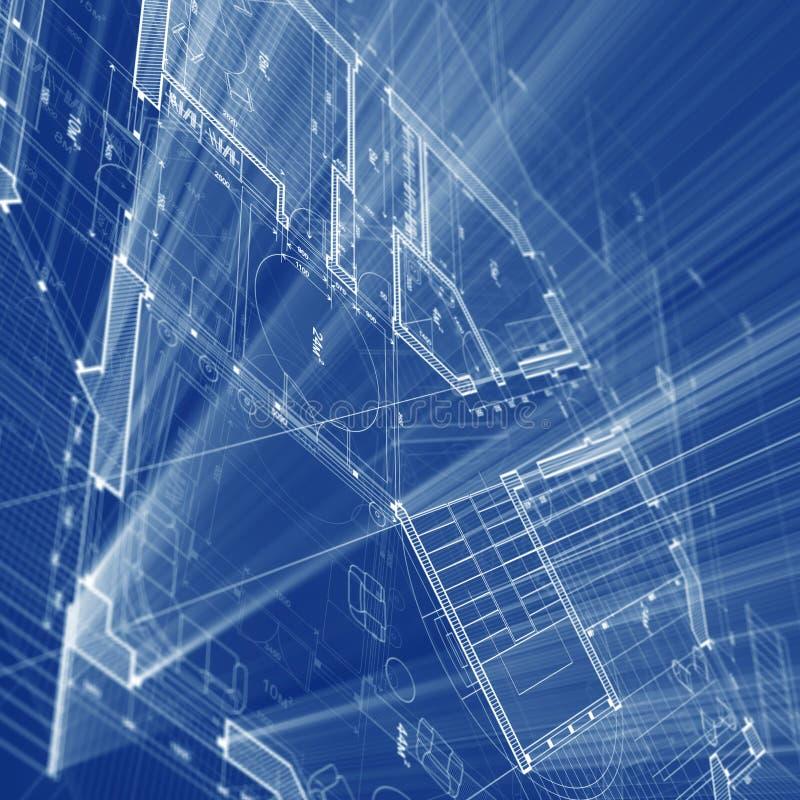 De blauwdruk van de architectuur royalty-vrije illustratie