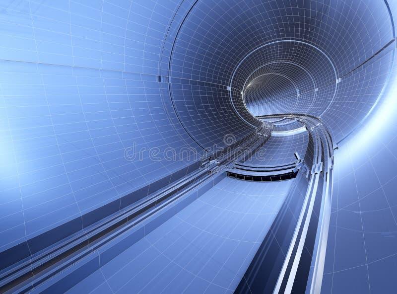 De blauwdruk van de tunnel royalty-vrije illustratie