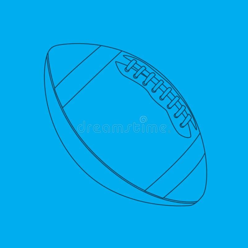 De blauwdruk van de voetbal vector illustratie