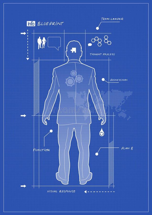 De Blauwdruk van de zakenman vector illustratie