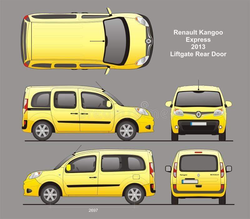 De Blauwdruk van Renault Kangoo Express Passenger Van 2013 royalty-vrije illustratie