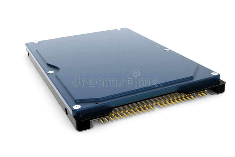 De blauwe 3d aandrijving van de computerharde schijf stock illustratie