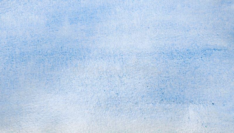 De blauwe abstracte achtergrond van de waterverf vector illustratie