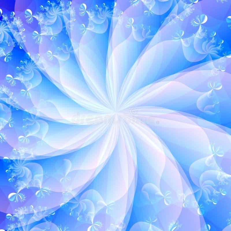 Blauwe Wervelings Abstracte Achtergrond stock afbeelding