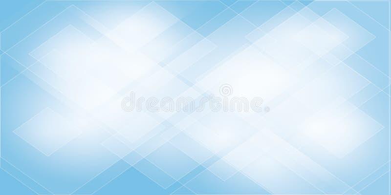 De blauwe Abstracte meetkunde als achtergrond glanzen en de vector van het laagelement stock illustratie