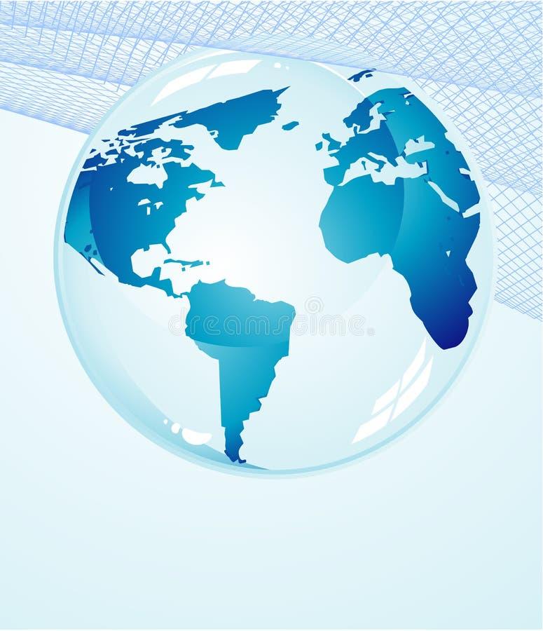 De blauwe Achtergrond van de Aarde vector illustratie