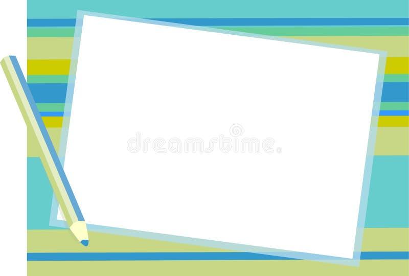 De blauwe achtergrond van de Blocnote stock afbeelding