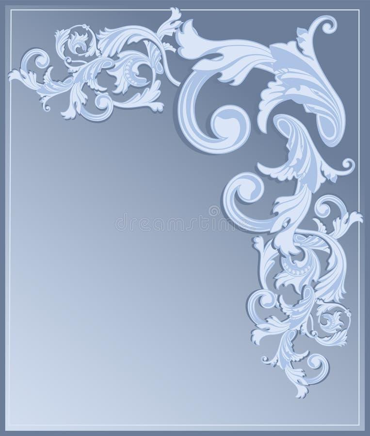 De blauwe achtergrond van de Heropleving royalty-vrije illustratie