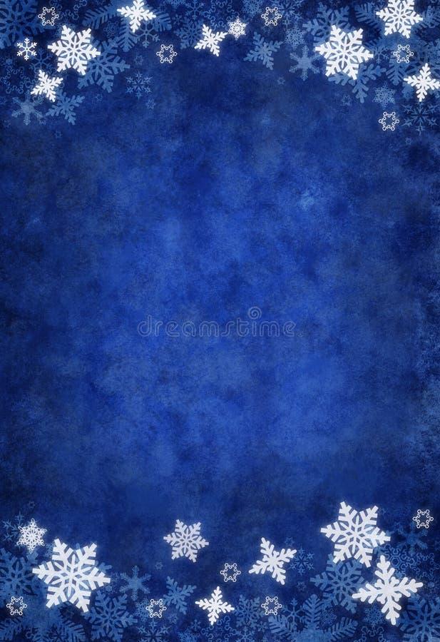 De blauwe Achtergrond van de Sneeuwvlok van Kerstmis royalty-vrije illustratie