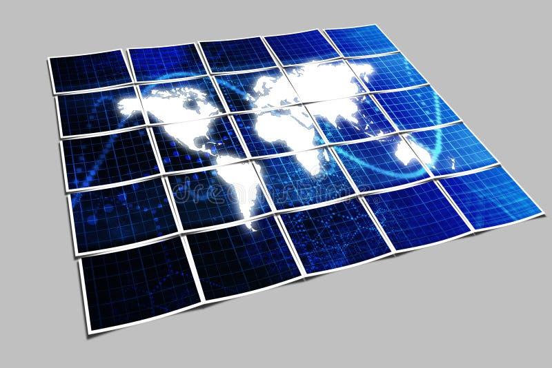 De blauwe Achtergrond van de Technologie vector illustratie
