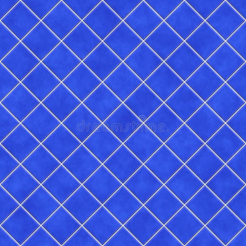 De blauwe achtergrond van de tegelstextuur vector illustratie