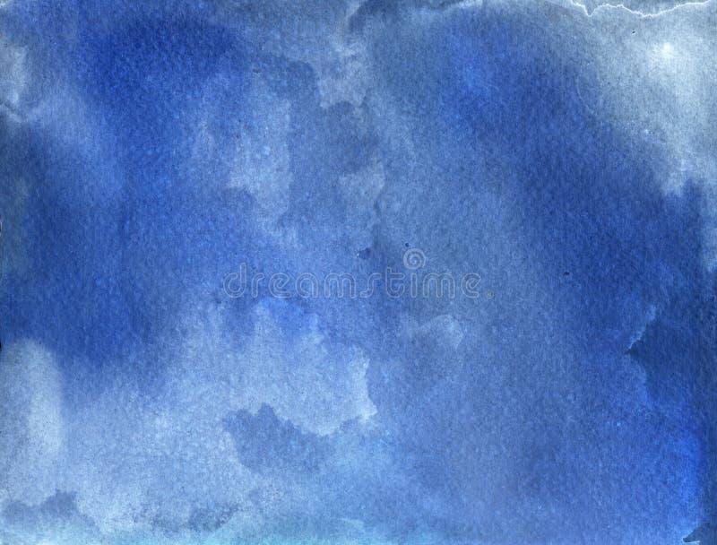 De blauwe Achtergrond van de Waterverf vector illustratie