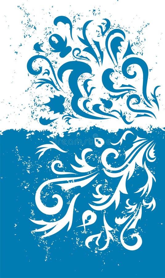 De blauwe achtergrond van Grunge royalty-vrije illustratie