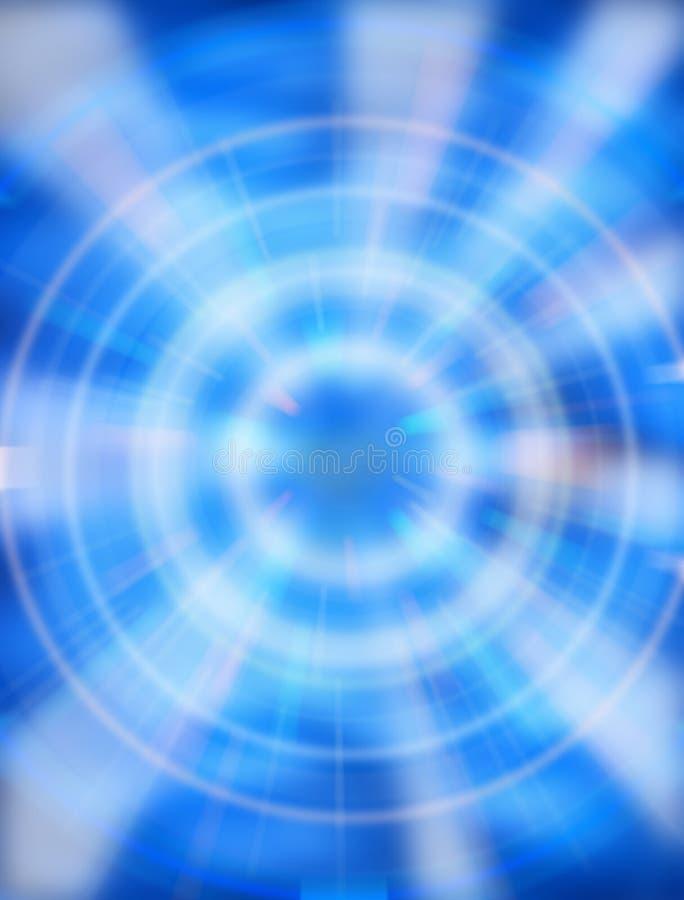 De blauwe Achtergrond van het Centrum royalty-vrije stock fotografie