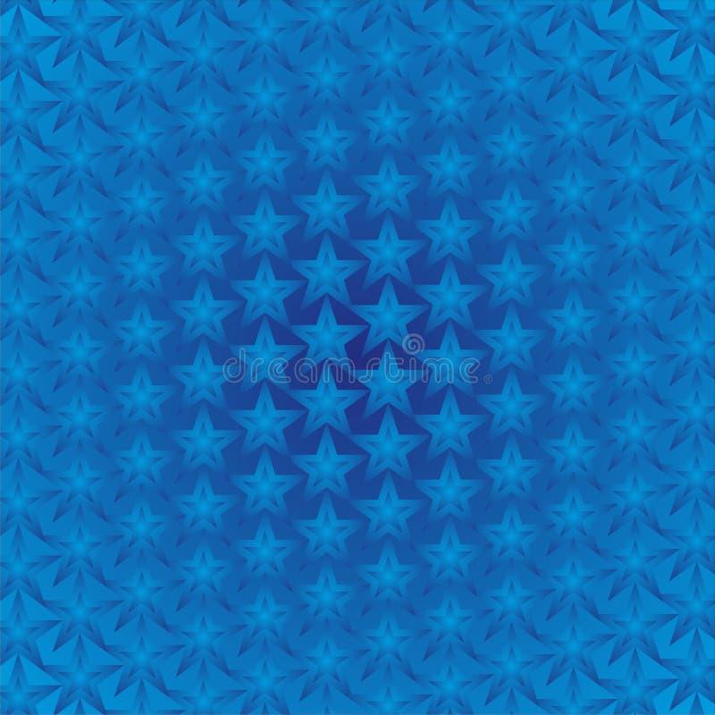 De blauwe Achtergrond van Sterren royalty-vrije illustratie
