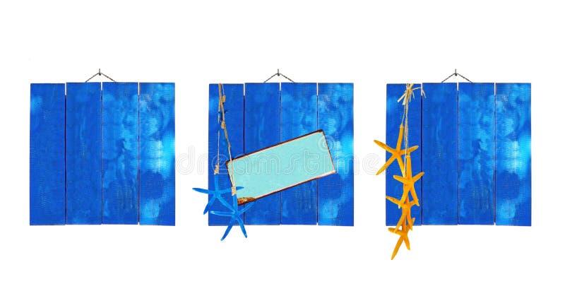 De blauwe achtergronden van het strandthema royalty-vrije stock fotografie