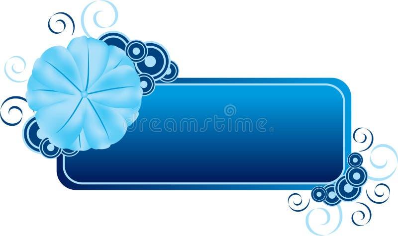 De blauwe Banner van de Bloem stock illustratie