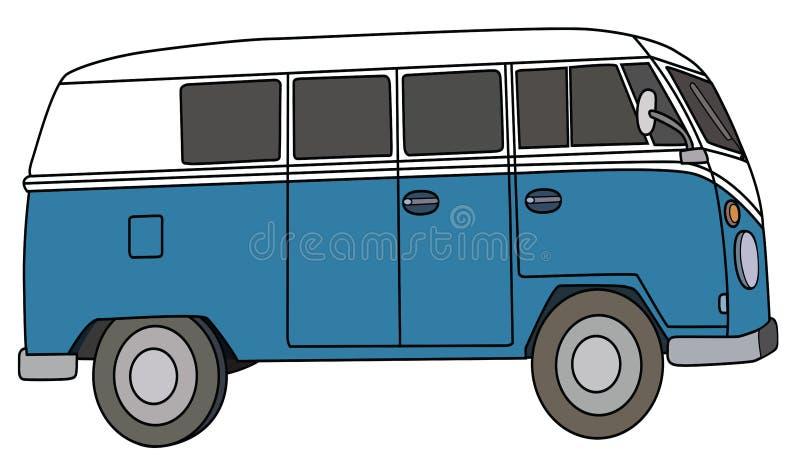 De blauwe bestelwagen stock illustratie