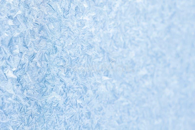 De blauwe bevroren achtergrond van vensterkerstmis royalty-vrije stock foto