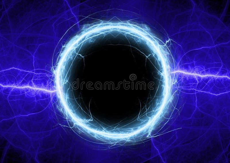 De blauwe bliksem van de plasmacirkel vector illustratie