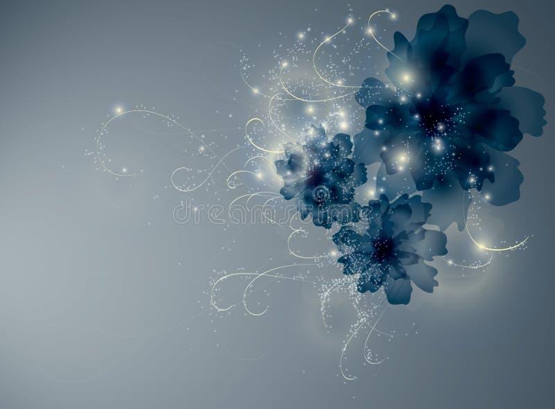 De blauwe bloemen van de saffier stock illustratie