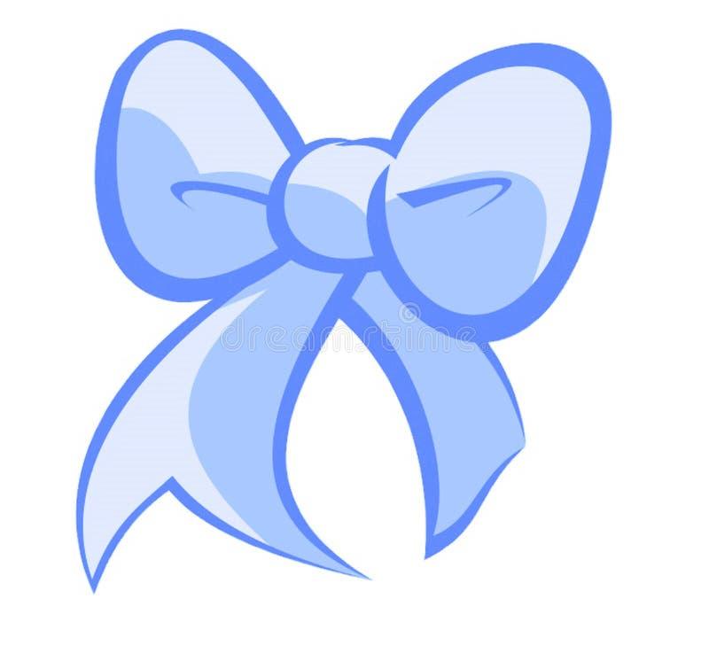 De blauwe boog van Kerstmis royalty-vrije stock afbeelding