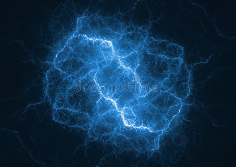 De blauwe bout van de plasmabliksem royalty-vrije illustratie
