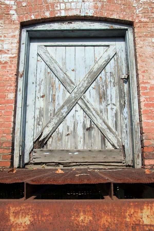 De blauwe deur royalty-vrije stock fotografie