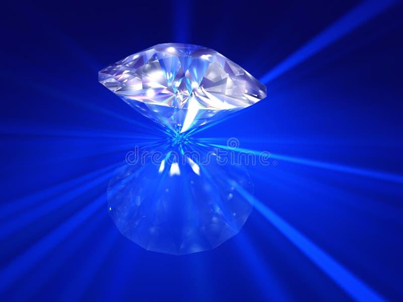 De blauwe diamant van de Brand vector illustratie