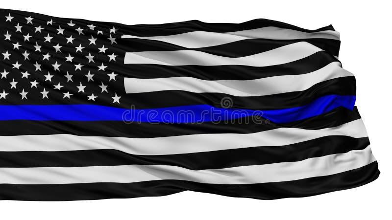 De blauwe die Vlag van de het Levenskwestie, op Wit wordt geïsoleerd royalty-vrije illustratie