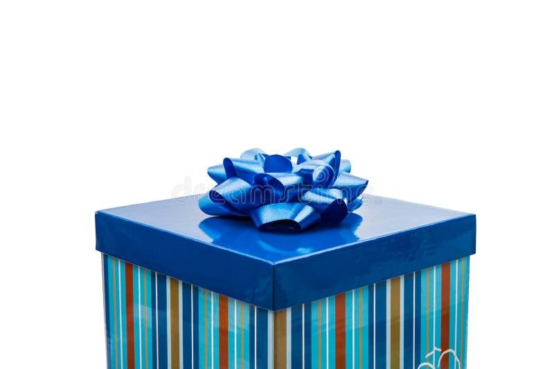 De blauwe Doos van de Gift stock foto