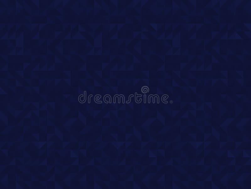 De blauwe driehoek betegelt naadloos patroon, vectorachtergrond stock afbeeldingen