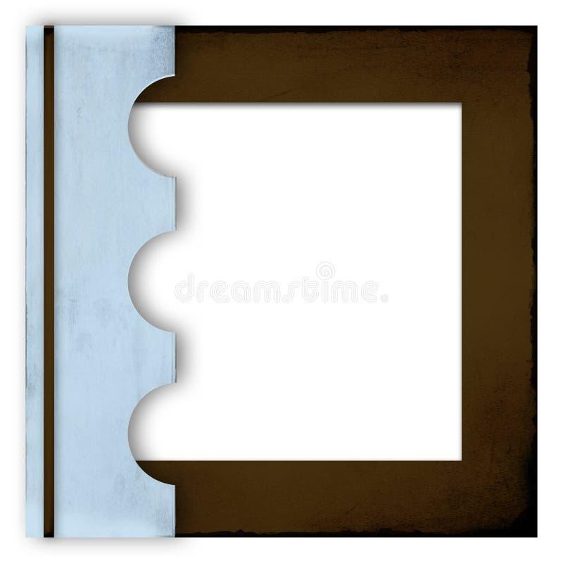 De blauwe en bruine dekking van het fotoalbum vector illustratie