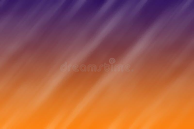De blauwe en oranje abstracte achtergrond van de glastextuur, creatief ontwerpmalplaatje stock fotografie