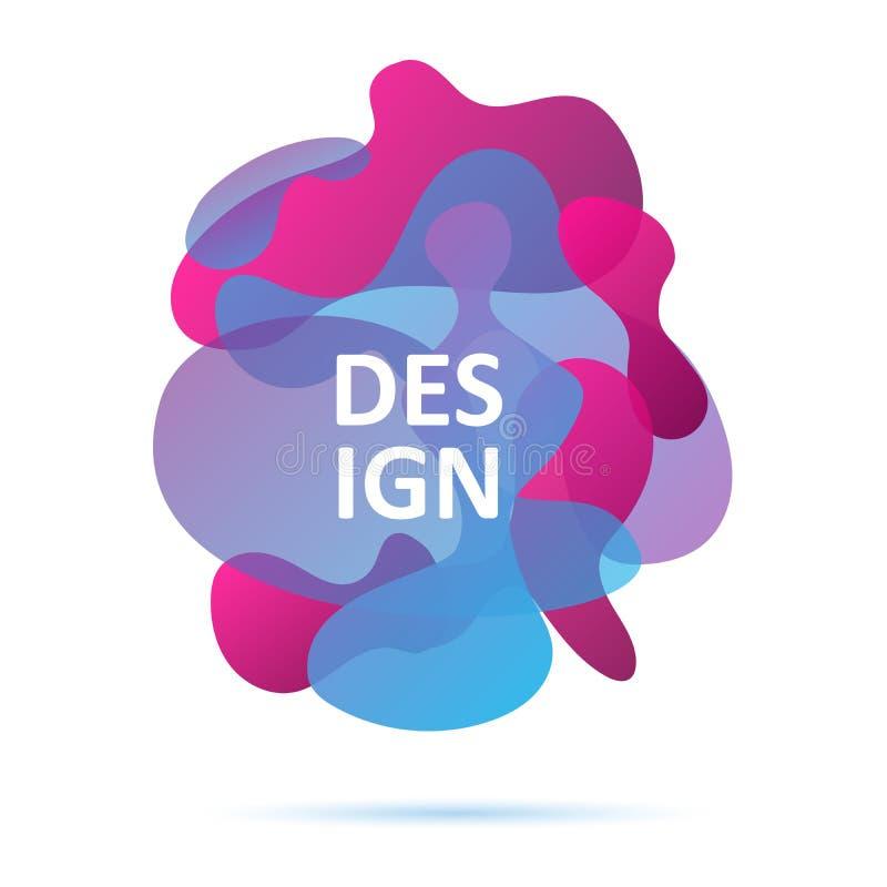 De blauwe en roze kleuren, vatten modern grafisch element samen vector illustratie