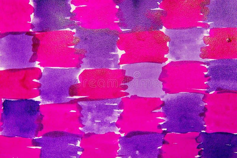 De blauwe en violette kleur van het vlekwater stock illustratie