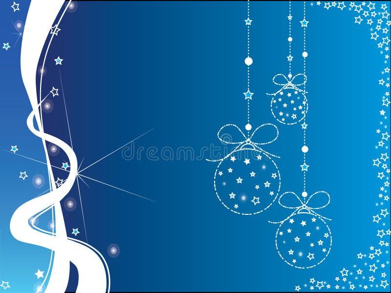 De blauwe en witte achtergrond van Kerstmis royalty-vrije stock fotografie