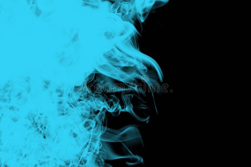 De blauwe en zwarte samenvatting van Wispy stock foto's