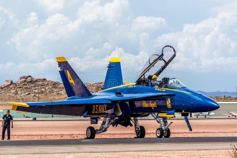 De blauwe Engelen royalty-vrije stock fotografie