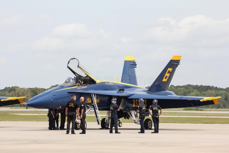 2015 de Blauwe Engelen van USN stock fotografie