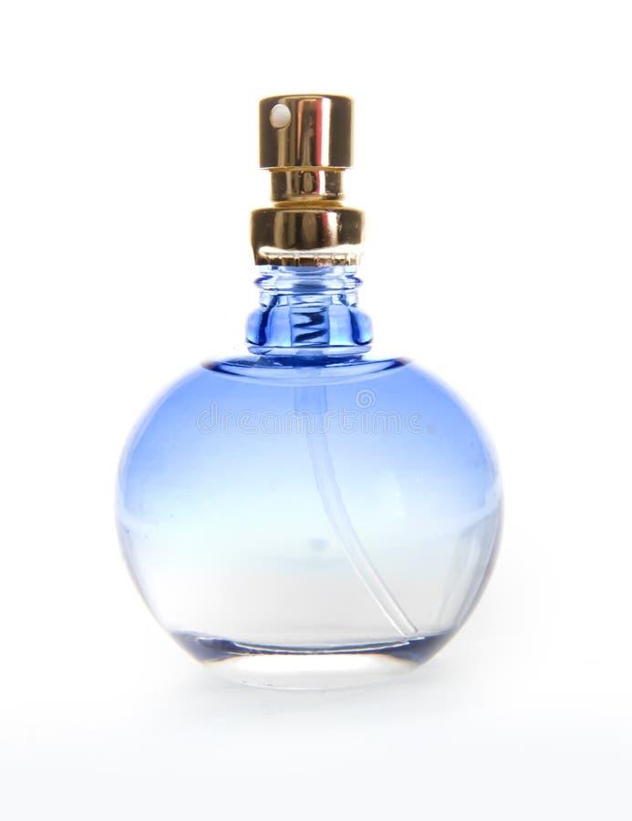 De blauwe Fles van het Parfum royalty-vrije stock foto