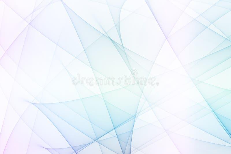 De blauwe Futuristische Lijnen van de Energie vector illustratie