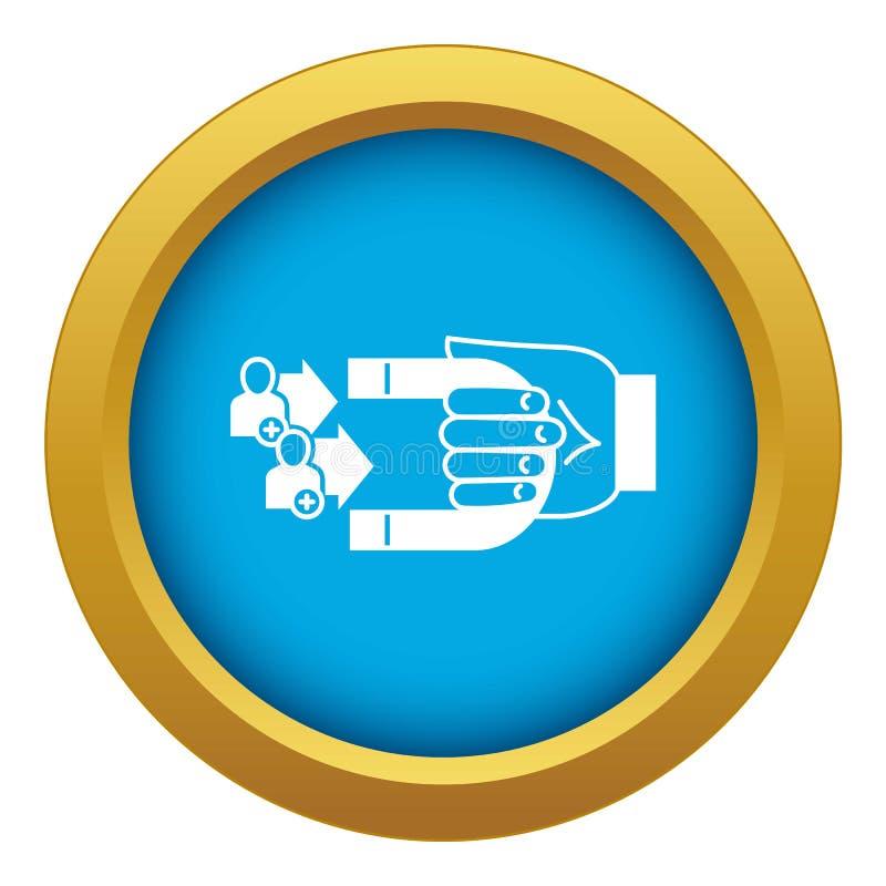 De blauwe geïsoleerde vector van het klantenretentiepictogram stock illustratie