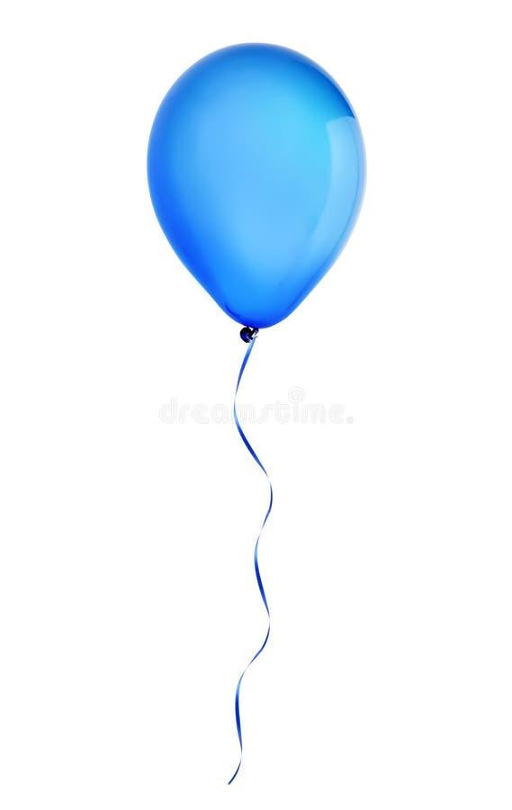 De blauwe gelukkige vliegende die ballon van de vakantielucht op wit wordt geïsoleerd royalty-vrije stock foto