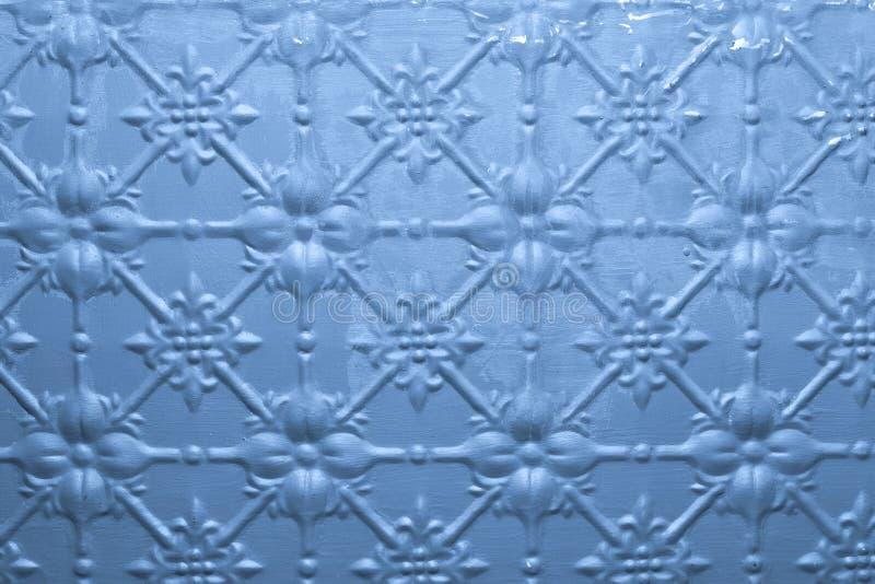 De blauwe Geschilderde Achtergrond van het Metaal stock foto's