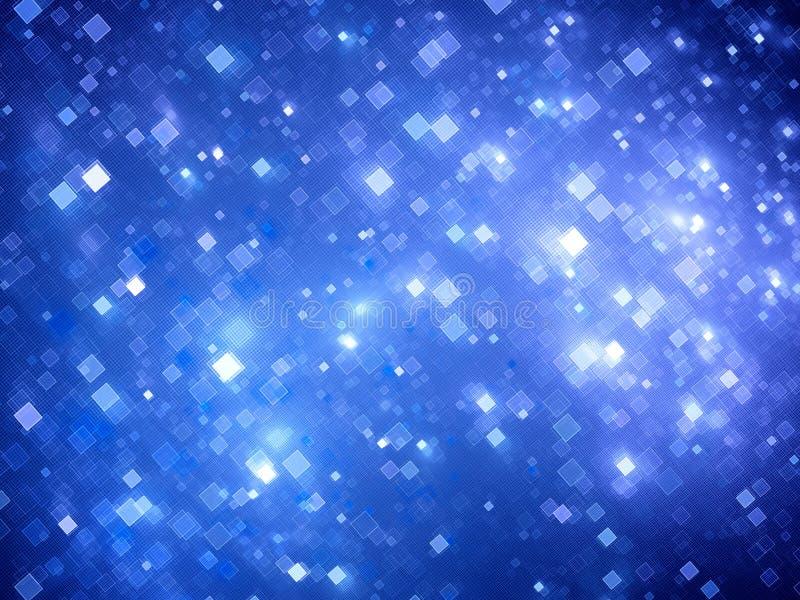 De blauwe gloeiende grote gegevens regelen fractal achtergrond vector illustratie