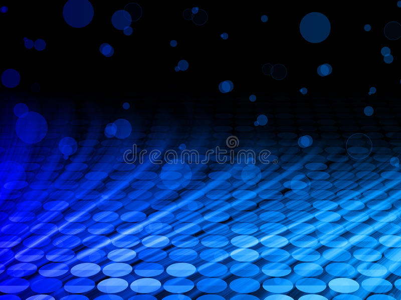 De Blauwe Golven van de Disco van de winter op Zwarte Achtergrond vector illustratie
