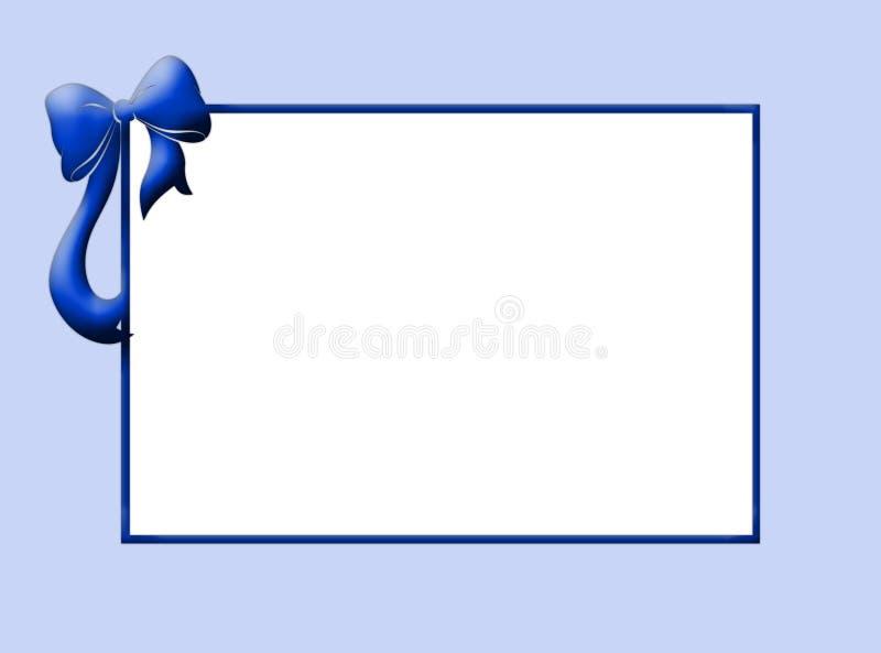 De blauwe grens van de baby royalty-vrije stock fotografie