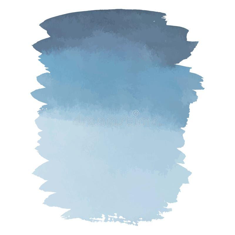 De blauwe grijze banner van de waterverfhand getrokken gradiënt royalty-vrije illustratie